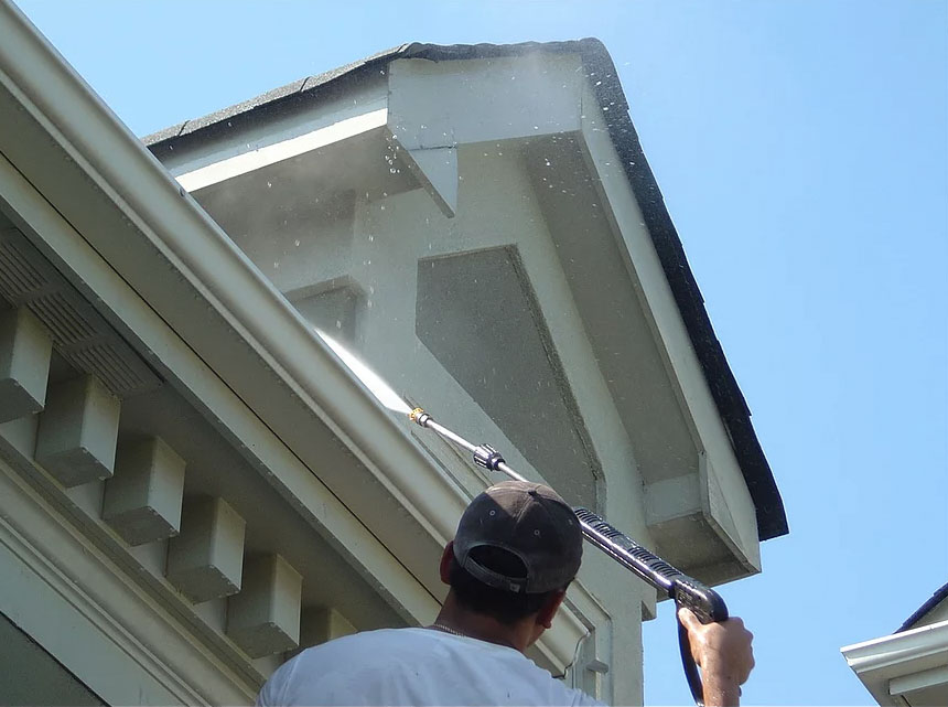 Exterior home painting surface preparation